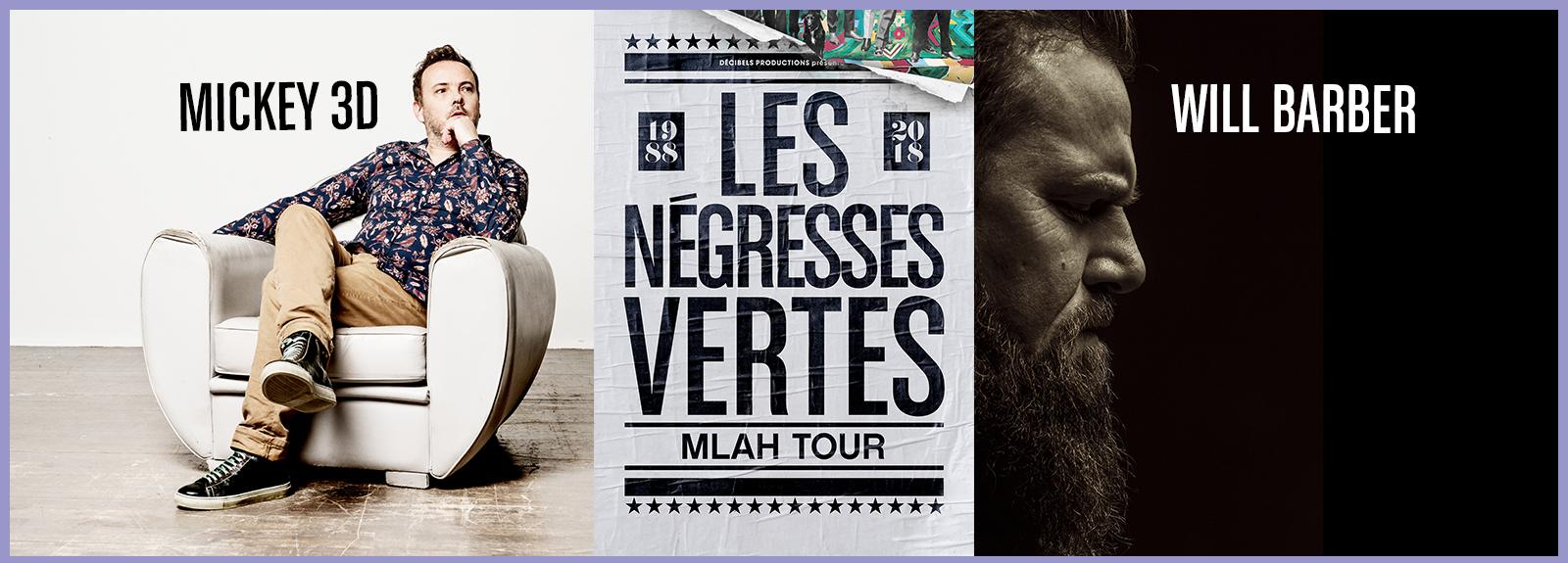 Concert événement : Les Négresses Vertes – Mickey 3D – Will Barber