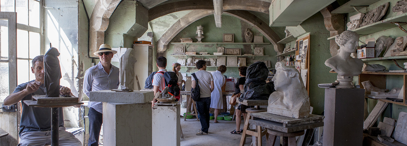 Visite de l'IMAPEC (Institut des Métiers d'Art de la Pierre et de la Construction)
