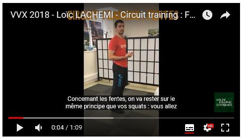 VVX 2018 – Loïc Lachemi – Circuit training : Fentes