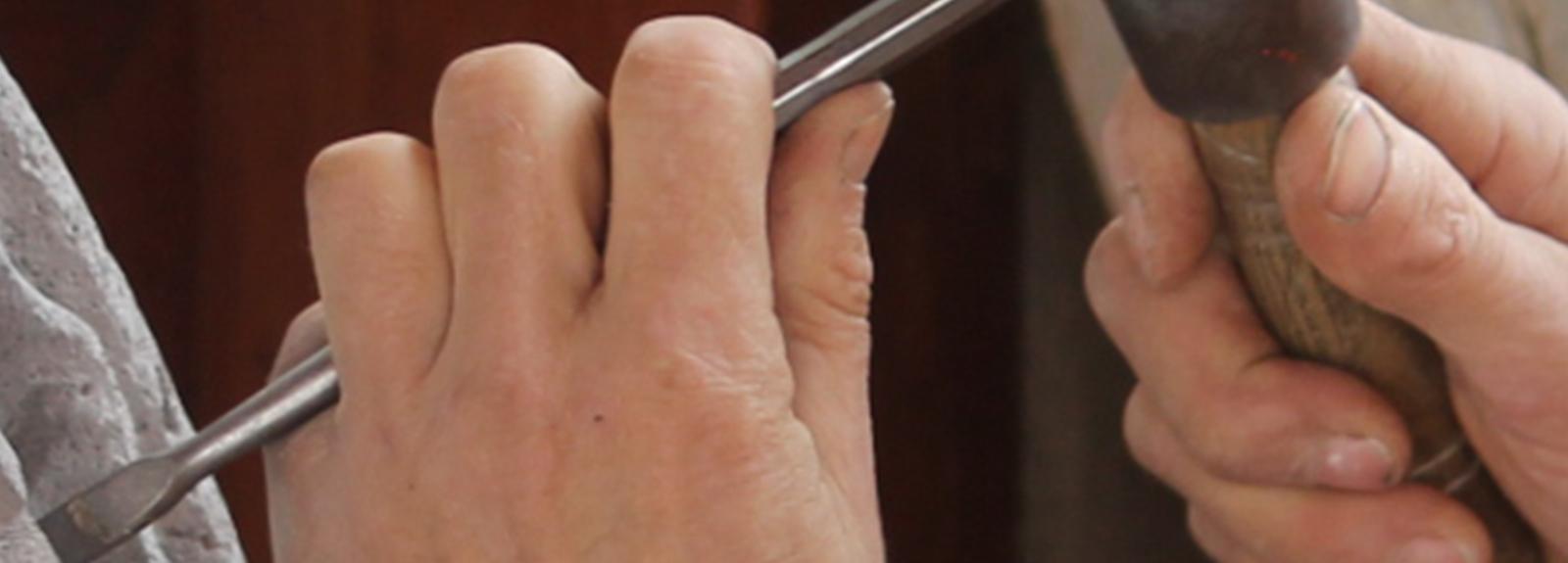 Démonstrations de tailleurs de pierre professionnels