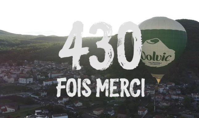 430 merci - bénévoles