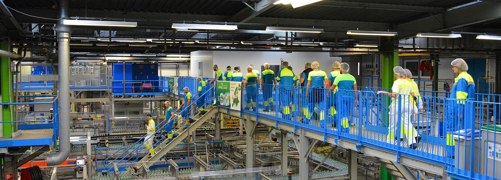 Exploring the Volvic factory